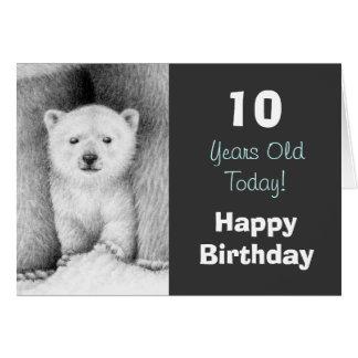 Polar Bear Cub Birthday Card