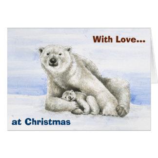 Polar Bear & Cub Birthday Card