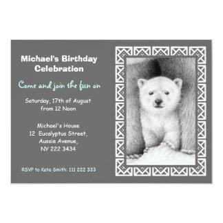 Polar Bear Cub Birthday Party Invitation