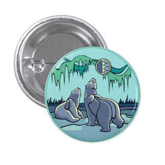 Polar Bear & Cub Button / Pin Wildlife Art Button
