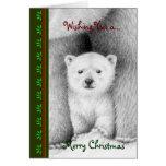 Polar Bear Cub Chrismas Card