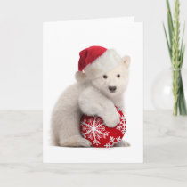 Polar Bear Cub Christmas Card