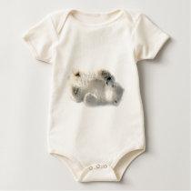Polar Bear Cub Cute Animal Arctic Frozen Winter Baby Bodysuit