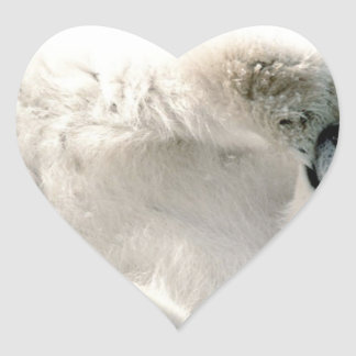 Polar Bear Cub Cute Animal Arctic Frozen Winter Heart Sticker