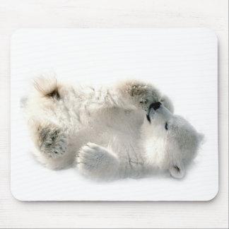 Polar Bear Cub Cute Animal Arctic Frozen Winter Mouse Pad