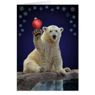 Polar Bear Cub Holiday Greeting Card