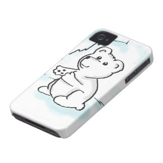 Polar Bear Cub Illustration iPhone 4 Case