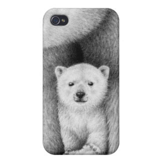 Polar Bear Cub Covers For iPhone 4