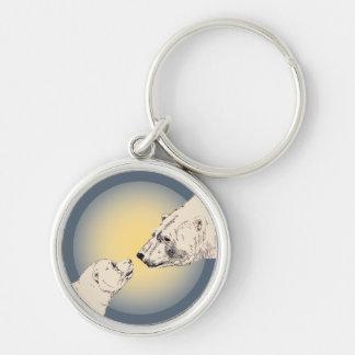 Polar Bear & Cub Key Chain Bear Art Keychain