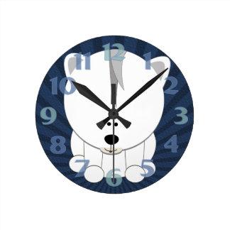 Polar Bear Cub Medium Clock