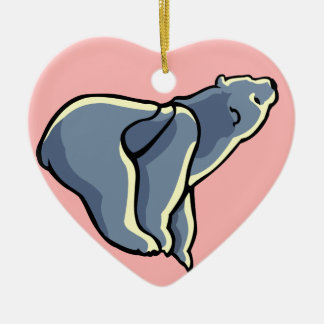 Polar Bear Cub Ornament Personalized Bear Art Gift