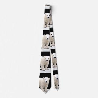 Polar Bear Cub Painting - Original Wildlife Art Neck Tie