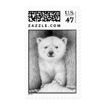 Polar Bear Cub Postage