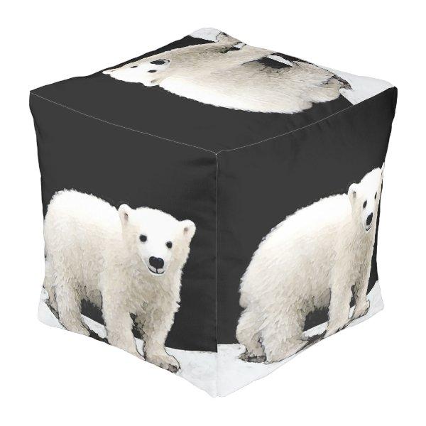 Polar Bear Cub Pouf