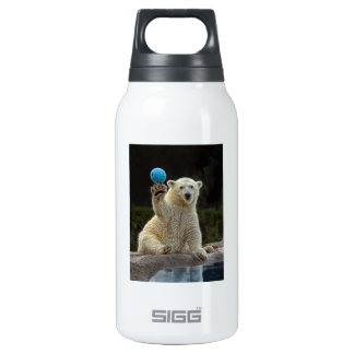Polar Bear Cub with Ball Insulated Water Bottle