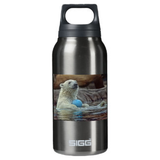 Polar Bear Cub with Toy Insulated Water Bottle
