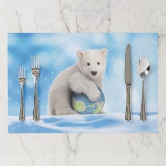 Polar Bear Cub World Placement Paper Placemat