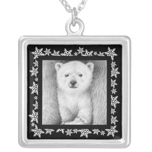 Polar Bear Cub Xmas Necklace