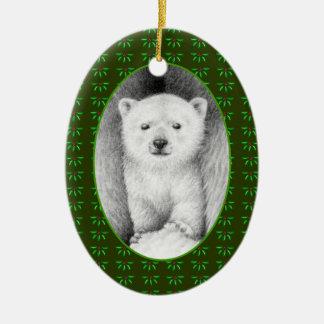 Polar Bear Cub Xmas Ornament