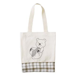 Polar Bear Cub Zazzle HEART Tote Bag
