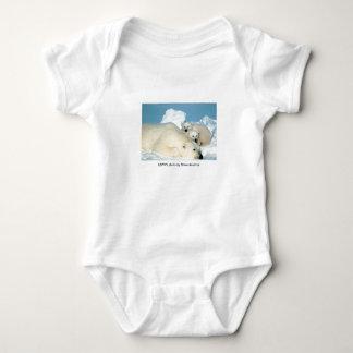 Polar Bear & Cubs Baby Bodysuit