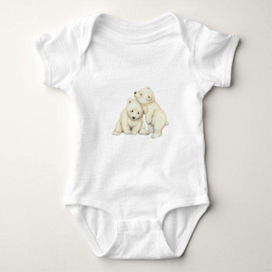Polar Bear Cubs Baby Bodysuit