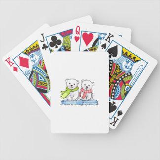 POLAR BEAR CUBS BICYCLE PLAYING CARDS