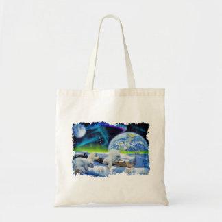 Polar Bear Cubs Cute Wildlife Art Designer Bag