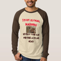 polar-bear-cubs-feeding-bloody-s[1], STOP! GLOB... T-Shirt