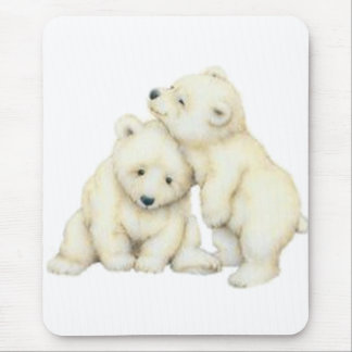 Polar Bear Cubs Mouse Pad