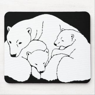 Polar Bear & Cubs Mousepad Wildlife Art Mousepad