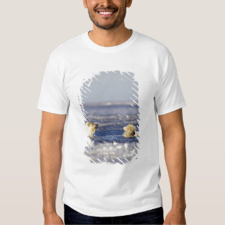 Polar bear cubs playing in pack ice of the T-Shirt