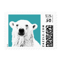 Polar Bear Custom Postage Stamp