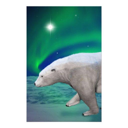 Polar Bear Custom Stationery