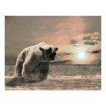 polar bear customized letterhead