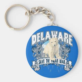 Polar Bear Delaware Keychain