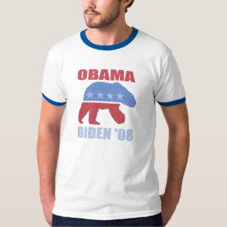 Polar Bear Democrat Obama Biden Ringer Mens Shirt