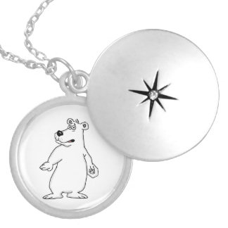 Polar bear design locket