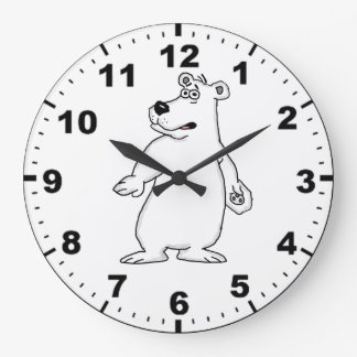 Polar bear design wrist watches large clock