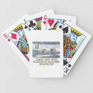 Polar bear designs bicycle playing cards