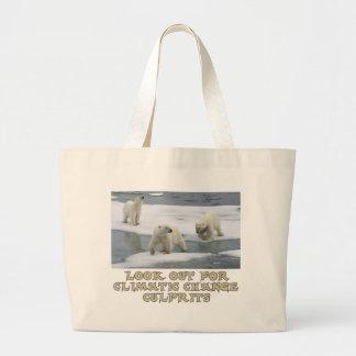 Polar bear designs large tote bag