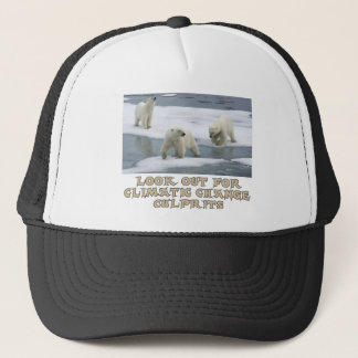 Polar bear designs trucker hat