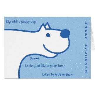 Polar Bear Dog Card