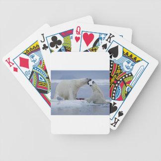 Polar Bear Duel Bicycle Playing Cards