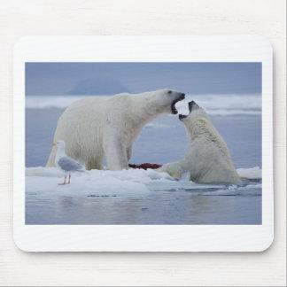 Polar Bear Duel Mouse Pad