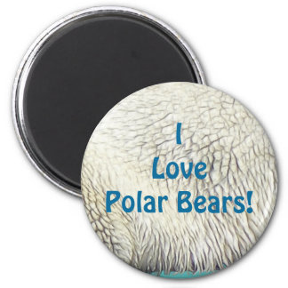 POLAR BEAR, EARTH DAY Gifts 2 Inch Round Magnet