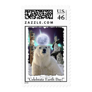 POLAR BEAR - EARTH DAY Postage stamps