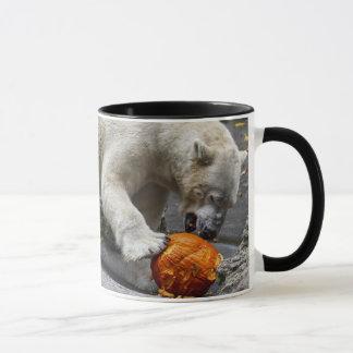 Polar Bear Eating a Pumpkin Mug