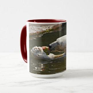 Polar Bear Eating Fruit In Water Mug