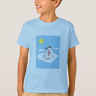 Polar Bear eating Ice Cream Cone T-Shirt